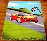 שטיח לחדר ילדים - מכונית אדומה