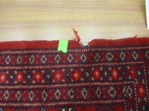 תיקון שטיח - לפני