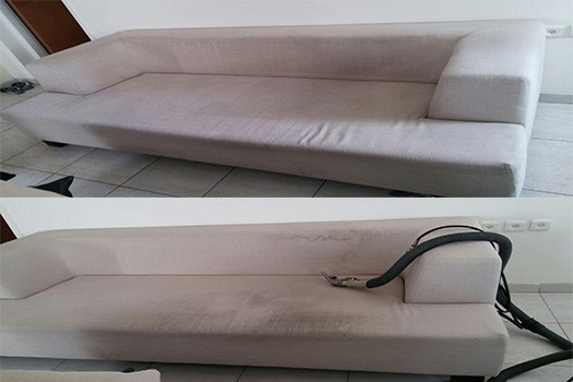 ניקוי ספה בסלון