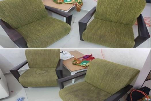 ניקוי ספה בד ירוק